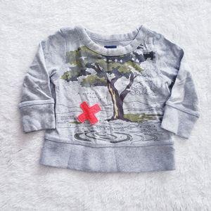 Baby gap sweater gray  baby boy size 6-12